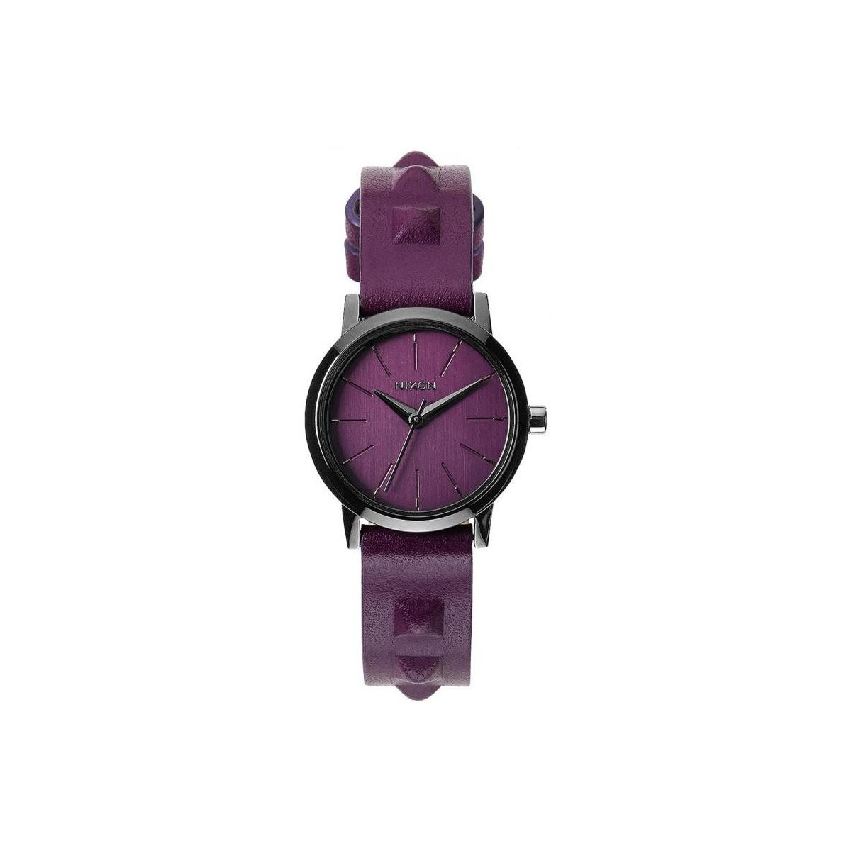 Nixon Montre  Kenzi Leather - Bordeaux / Studded Violet