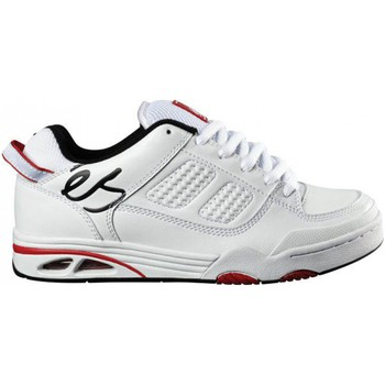 Chaussures Homme Baskets basses Es Saga White Black Red Blanc