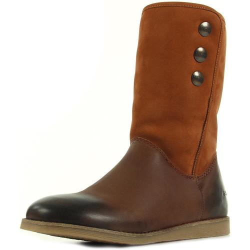 Chaussures Fille Bottes ville Kickers Flobizz Camel marron