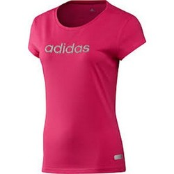 Vêtements Femme T-shirts manches courtes adidas Originals T-shirt  Glam Tee Z33210 Pink