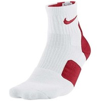 Chaussettes Nike Elite 2.0 Basketball HQ Blanc/rouge