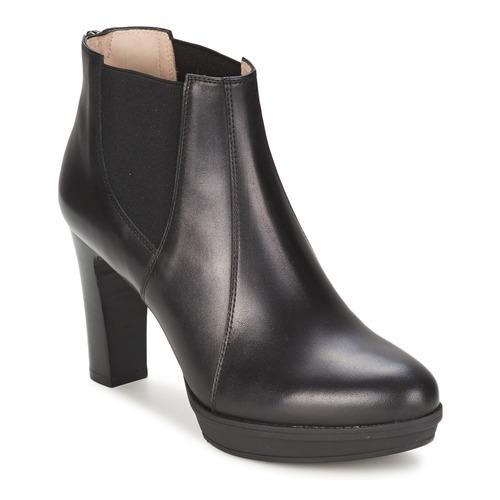 Chaussures Femme Bottines Unisa MIJAL Noir