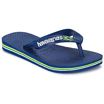 Chaussures Garçon Tongs Havaianas BRASIL LOGO Marine