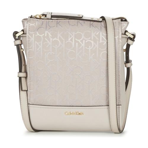 Sacs Femme Sacs Bandoulière Calvin Klein Jeans MARINA LOGO FLAT CROSSBODY Beige