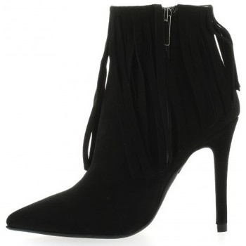 Chaussures Femme Bottines Essedonna Boots cuir velours Noir