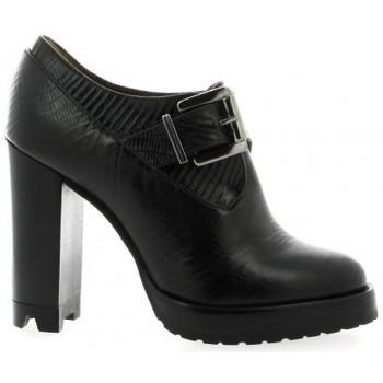 Chaussures Femme Low boots Essedonna Boots cuir serpent Noir