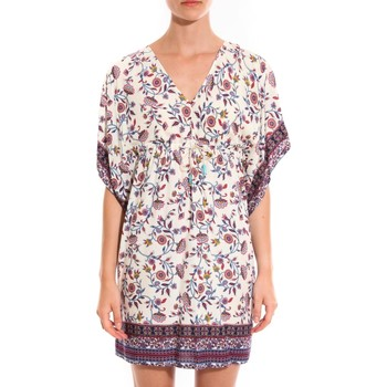 Robes courtes Ema Blues Robe Patchouli fleurs multicolor