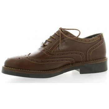 Chaussures Femme Richelieu So Send Derby cuir Camel