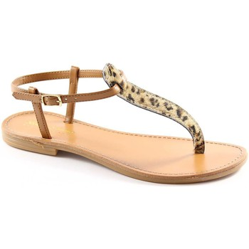 Chaussures Femme Tongs Bottega Artigiana BOUTIQUE ARTIGIANA 3490 léopard naturel tongs femme Marrone
