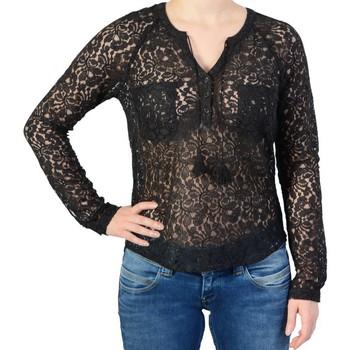 Vêtements Femme T-shirts manches longues Le Temps des Cerises Hakalace Black Noir