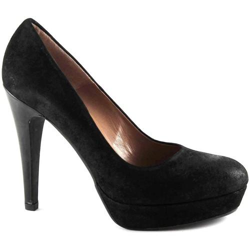 Chaussures Femme Escarpins Les Venues LES LIEUX 2000 black dcollet chaussures femme talon PLATEAUX Nero