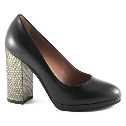 Chaussures Femme Escarpins Les Venues LES LIEUX 6800 chaussures noires à talons de plateaux de dcollet Nero