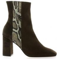 Chaussures Femme Bottines Elizabeth Stuart Boots cuir velours Vison
