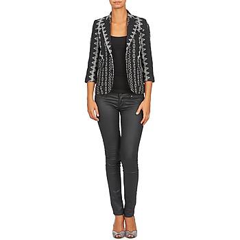 Femme Gris Manoush Vêtements VestesBlazers Noir Tailleur uTl1Jc5K3F