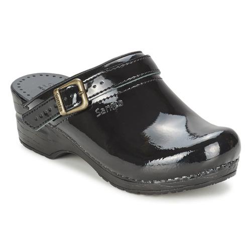 Sanita Noir Freya Sabots Chaussures Femme kXOZiPu