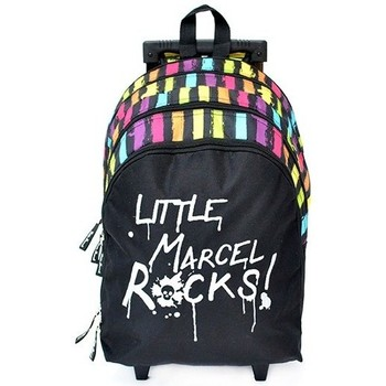 Sacs Femme Cartables Little Marcel Sac à dos à roulette  RAPID ROCK Noir RAPID ROCK Noir