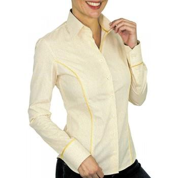 Vêtements Femme Chemises manches longues Andrew Mc Allister chemise imprimee daisy jaune Jaune