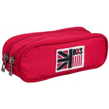 Sacs Fille Trousses Ikks Trousse Double IKKS Rouge BOY UK I5BUK-T2-RG Rouge