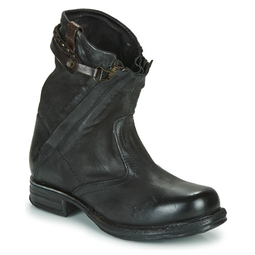 Chaussures Femme Boots Airstep / A.S.98 SAINT METAL ZIP Noir