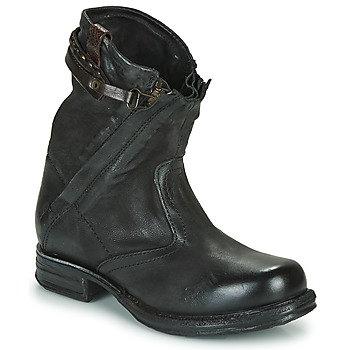 Bottines / Boots Airstep / A.S.98 SAINT METAL ZIP Noir 350x350