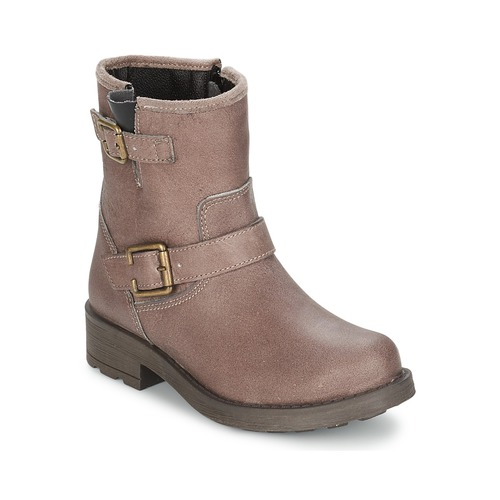 Chaussures Fille Bottes ville Citrouille et Compagnie JENY Taupe
