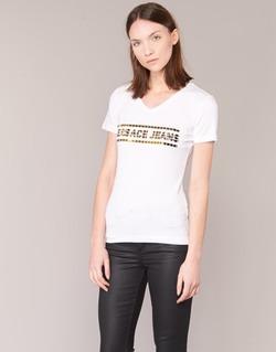 Vêtements Femme T-shirts manches courtes Versace Jeans B2HPA7GC Blanc