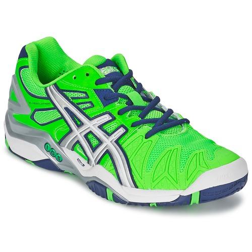 Chaussures Homme Tennis Asics GEL-RESOLUTION 5 Vert / Bleu
