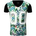 Carisma T-shirt fleurie homme T-shirt CRSM4172 noir