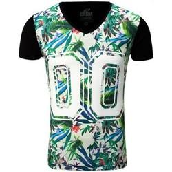 Vêtements Homme T-shirts & Polos Carisma T-shirt fleurie homme T-shirt CRSM4172 noir Noir