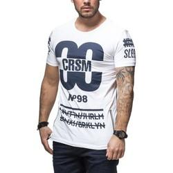 Vêtements Homme T-shirts & Polos Carisma Tee shirt fashion homme tee shirt CRSM4235 blanc Blanc