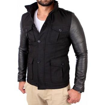 Vestes Young & Rich Manteau tendance homme Manteau YR496 noir