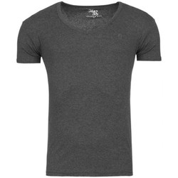 Vêtements Homme T-shirts & Polos Young & Rich Tee shirt homme fashion Tee shirt 874 gris foncé Gris