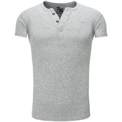 Vêtements Homme T-shirts & Polos Young & Rich T shirt homme col v T shirt 872 gris fashion Gris