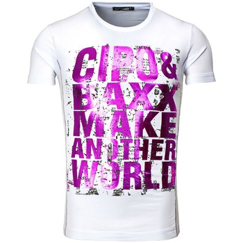 T-shirts & Polos Cipo And Baxx Tee shirt fashion homme T-shirt 101 blanc cintré
