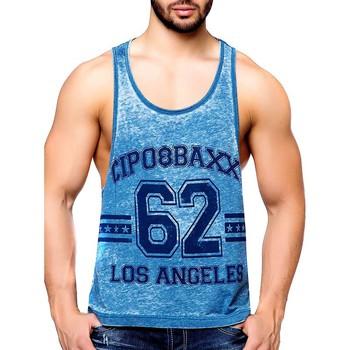 Vêtements Homme Débardeurs / T-shirts sans manche Cipo And Baxx Débardeur fashion homme Débardeur 140 bleu turquoise Bleu