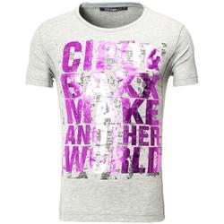 Vêtements Homme T-shirts & Polos Cipo And Baxx Tee shirt fashion homme T-shirt 101 gris imprimé Gris