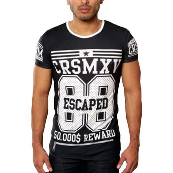 Vêtements Homme T-shirts & Polos Carisma Tee shirt fashion homme T-shirt CR4236 noir Noir