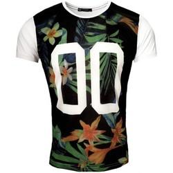 Vêtements Homme T-shirts & Polos Rerock T-shirt imprimé fleurie T-shirt RR1971 noir Noir