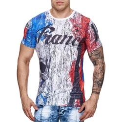 Vêtements Homme T-shirts manches courtes Monsieur Mode T-shirt fashion Euro 2016 T-shirt 703 France blanc Blanc