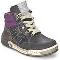 Chaussures Garçon Baskets montantes Garvalin TOMAS Gris Violet