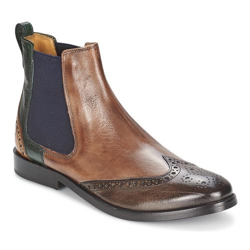 Chaussures Femme Boots Melvin & Hamilton AMÉLIE 5 Marron / Vert / Jaune