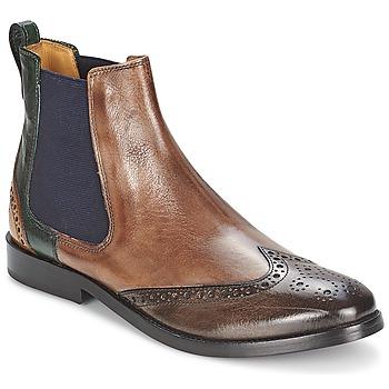 Bottines / Boots Melvin & Hamilton AMÉLIE 5 Marron / Vert / Jaune 350x350