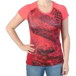 Vêtements Femme T-shirts manches courtes Desigual Tee Shirt Purpura Rouge