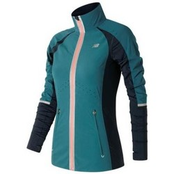 Vêtements Femme Vestes de survêtement New Balance Precision Run Jacket Bleu-Bleu marine-Rose