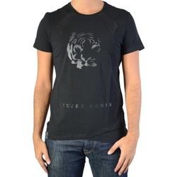 Vêtements Homme T-shirts manches courtes Ryujee Tee Shirt  Tyron Noir Noir