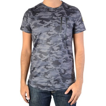 Vêtements Homme T-shirts manches courtes Ryujee Tee Shirt  Tylian Camouflet Gris Gris