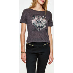 Vêtements Femme T-shirts manches courtes Only Tee Shirt  Onllucy Anthracite Chine Femme Anthracite