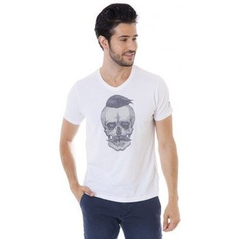 Vêtements Homme T-shirts manches courtes Mister Marcel T-shirt manches courtes MARSHALL BLANC