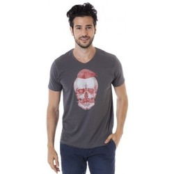 Vêtements Homme T-shirts manches courtes Mister Marcel T-shirt manches courtes MARSHALL GRIS CHINE