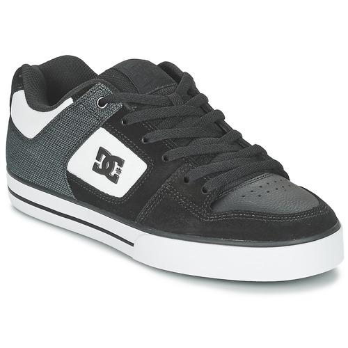 Chaussures Homme Chaussures de Skate DC Shoes PURE SE M SHOE BKW Noir / Blanc